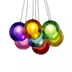 Hanging Pendant Light Living Room Contemporary Table Lamps For Rainbow Colour Balls Cluster - Lightosphere