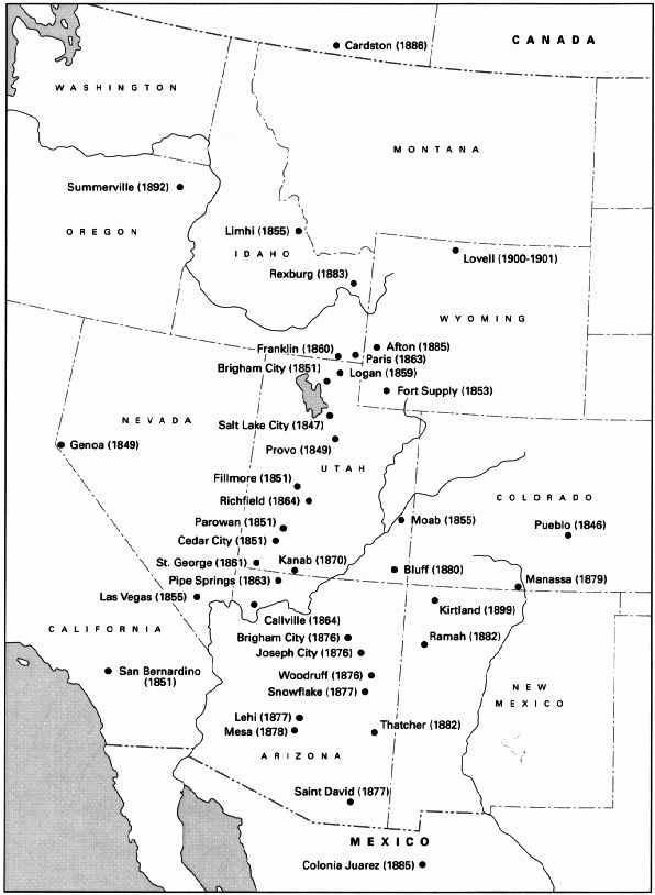 Image result for mormon settlements in utah 1847