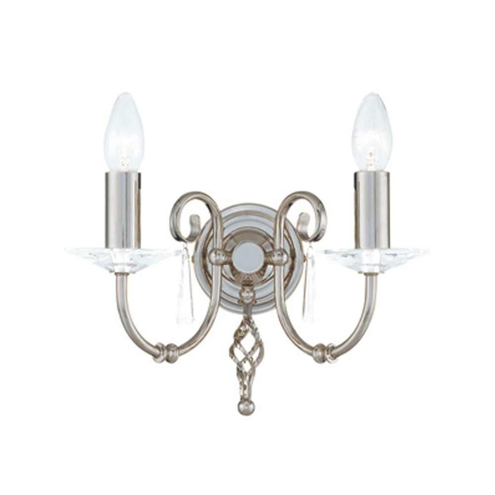 Elstead Lighting Aegean AG2 Polished Nickel 2Lt Wall Light