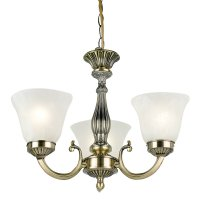 Endon Lighting Carmen 96833-AB Antique Brass & Glass ...