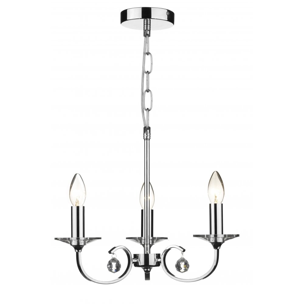 Dar Lighting Allegra ALL0350 Polished Chrome 3 Light