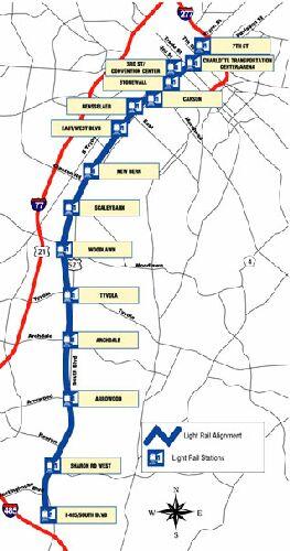 Charlotte Light Rail Map