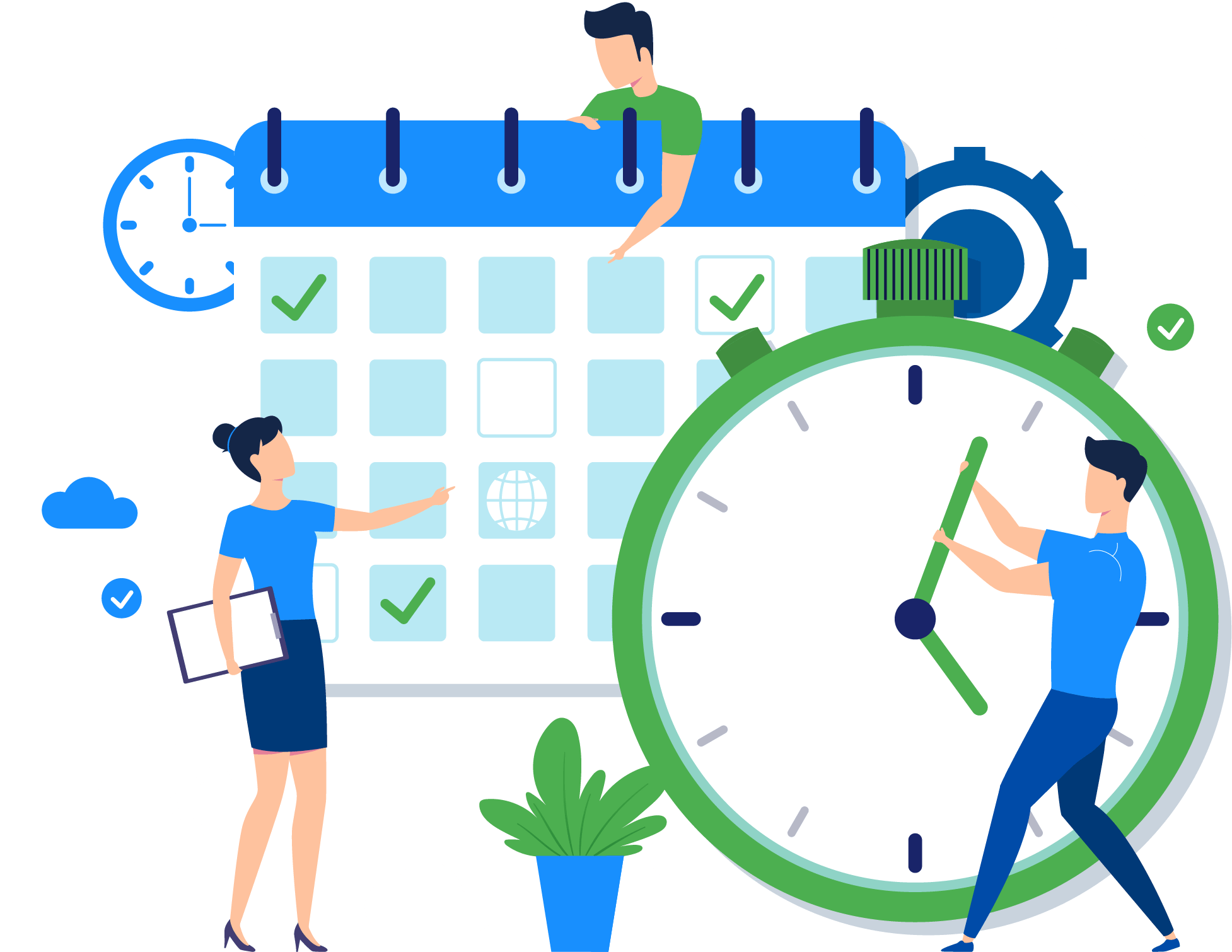 Saving Time and Money_Vector Graphic