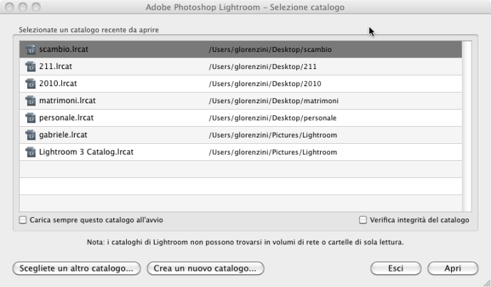 07 lightroom catalogo ripristino ripristinare backup