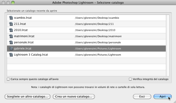 08 lightroom catalogo ripristino ripristinare backup