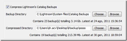 Lightroom plugin TPG LR Backup 05