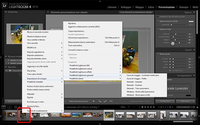 04 lightroom 4 beta preset predefiniti tutorial importazione gratis gratuito guida manuale sviluppo