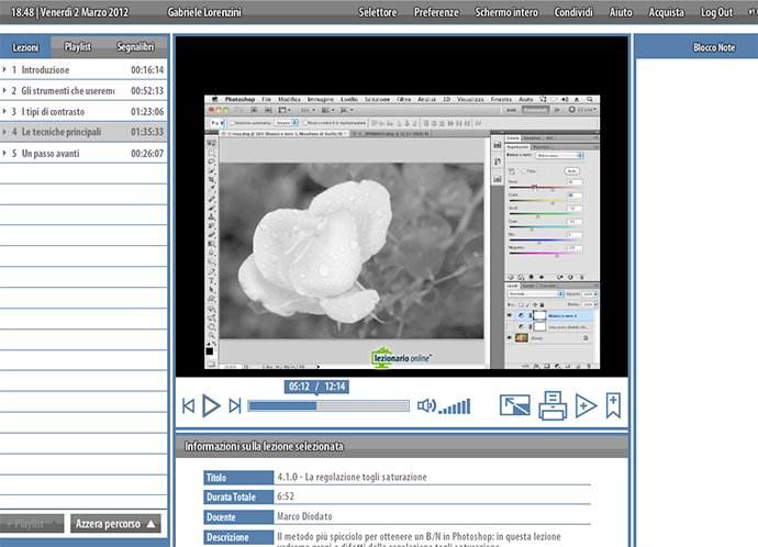01 lightroom videocorso bianco nero photoshop teacher in a box