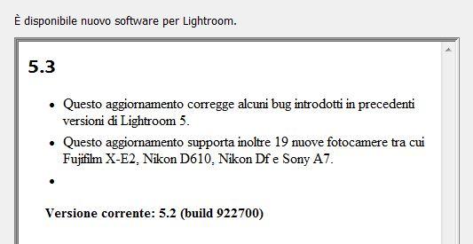 Cosa c'è di nuovo in Lightroom 5.3?