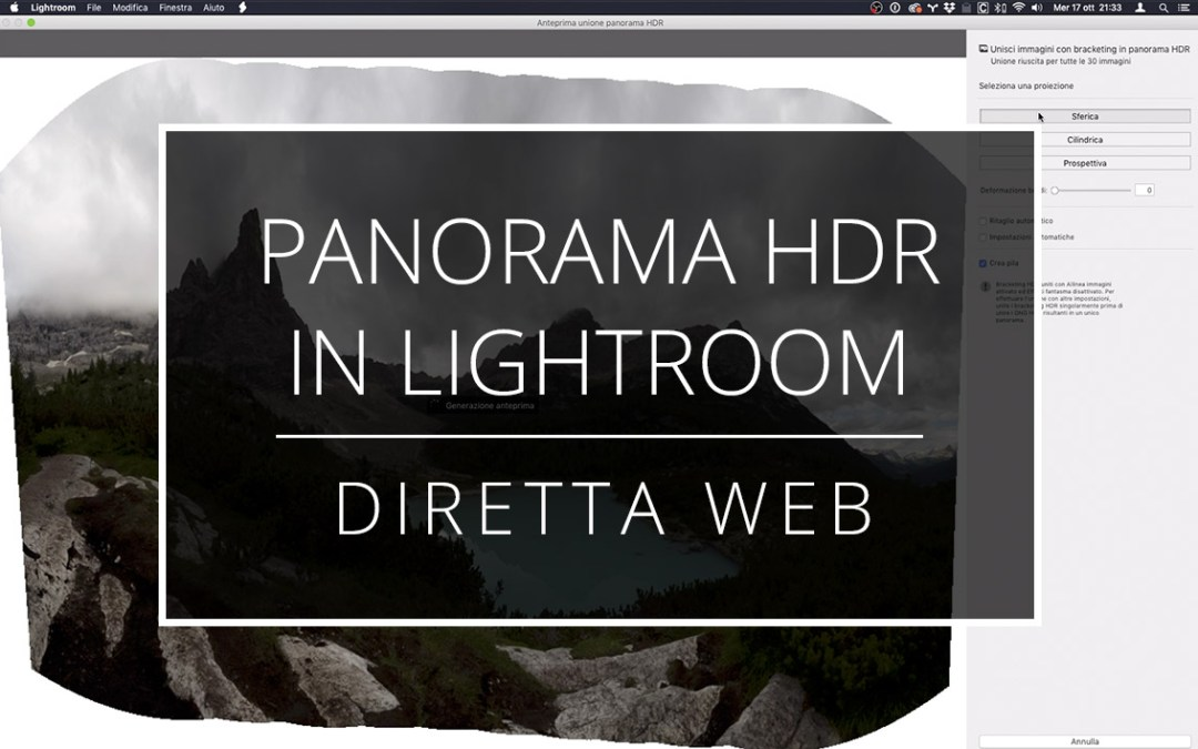 Videotutorial – Panorama HDR in Lightroom