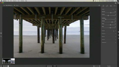 Foto's bewerken in Project Nimbus in een interface die een eenvoudiger versie van Lightroom lijkt.