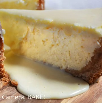 This Caramel Cheesecake is smooth, melting, rich, sweet, creamy, indulgent, delicious and so moreish! The cheesecake filling contains a homemade buttery caramel sauce and is topped with more caramel sauce! #caramel cheesecake #cheeasecakerecipe #decedentdessert