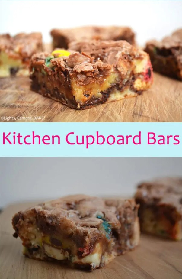 Kitchen Cupboard Bars. These are the aptly named Kitchen Cupboard Bars as they have basically every candy bar in them under the sun! #kitchencupboardbars #candybarbaking #candybarrecipe