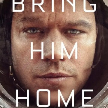 The Martian Poster. Poster from the movie The Martian taken from Lights, Camera, BAKE!. Click the photo to read the Film Talk and review of the movie. #themartian #mattdamon