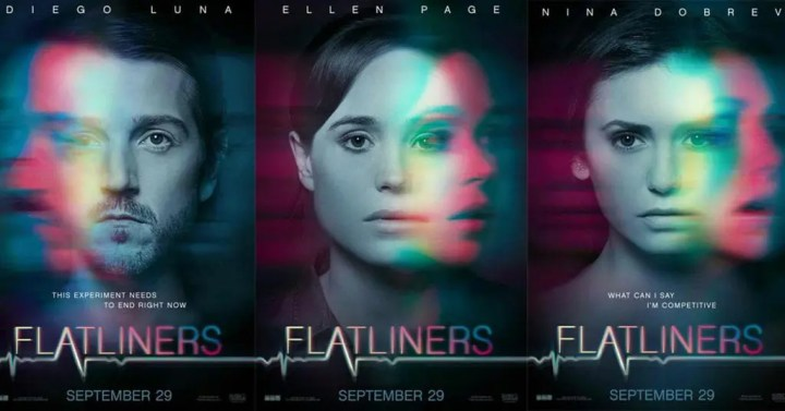 Flatliners 2017 Poster for the Flatliners film talk on Lights Camera BAKE!. I discuss Flatliners and give my review of the movie