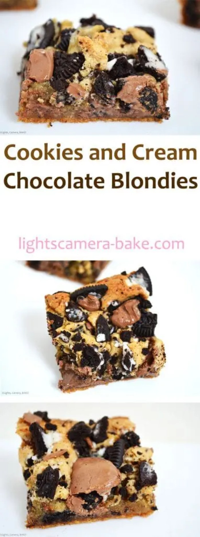 Cookies and Cream Chocolate Blondies are for the cookies and cream lovers out there! These blondies are ooey gooey, and filled to the brim with melty cookies and cream chocolate and crushed Oreos. If you love Oreos, ooey gooey treats and chocolate, these blondies are a must bake!