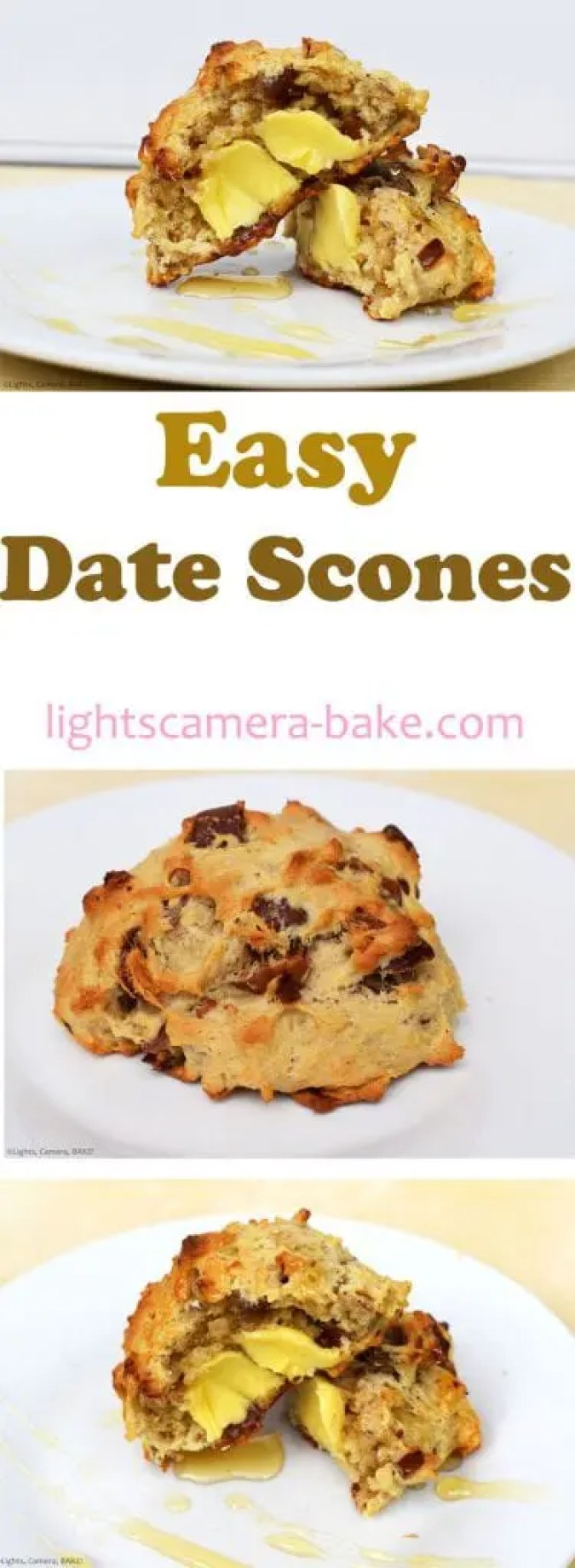 Easy Date Scones are light and fluffy and packed full of dates. Top with butter and runny honey and you have yourself the best brunch you could ever wish for.