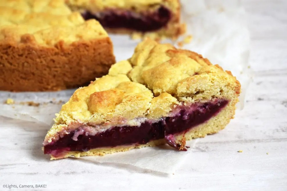Plum Shortcake is a soft and buttery shortcake recipe with a Black Doris Plum filling. Refreshing and the best shortcake recipe you will find! #plumshortcake #plumcake #plumcrumblecake #plumshortcakerecipe #shortcakerecipe