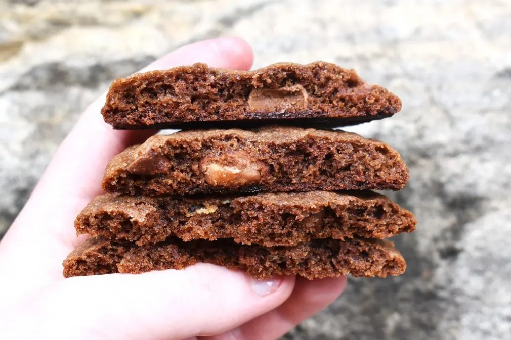 Malteser Chocolate Cookies are soft and chewy malted chocolate cookies with crushed Maltesers and chocolate chips throughout. #maltesers #maltesercookies #chocolatecookies #malteserchocolatecookies #ovaltinecookies