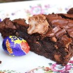 Creme Egg Brownies are quick and easy, fudgy brownies filled mini and regular creme eggs and chopped Easter eggs. Yum! #cremeeggbrownies #cremeeggrecipe #eastereggbrownies #eastereggrecipe #easterrecipe #easterdessertrecipe