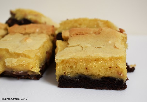 White chocolate and chocolate slice.