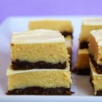 Slices of caramel ginger slice on a plate.
