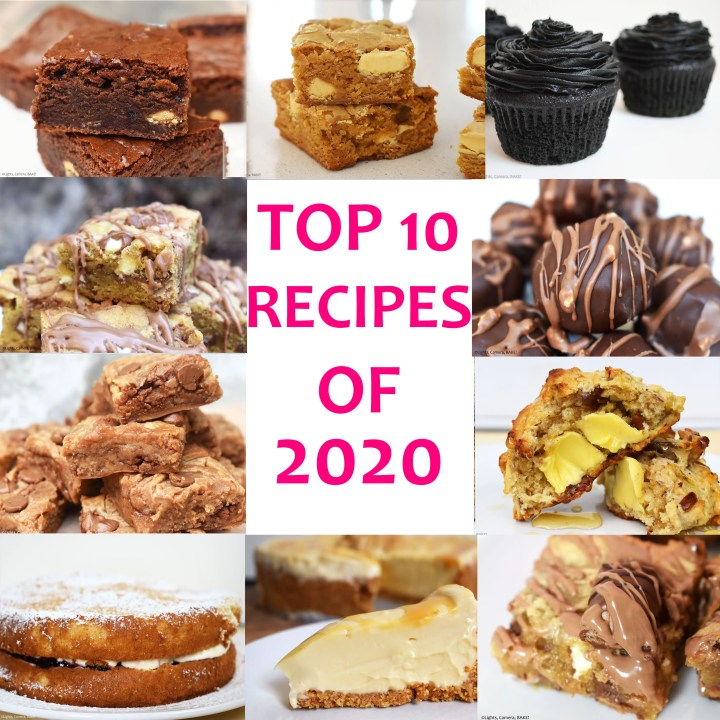 Photo collage of top 10 recipes
