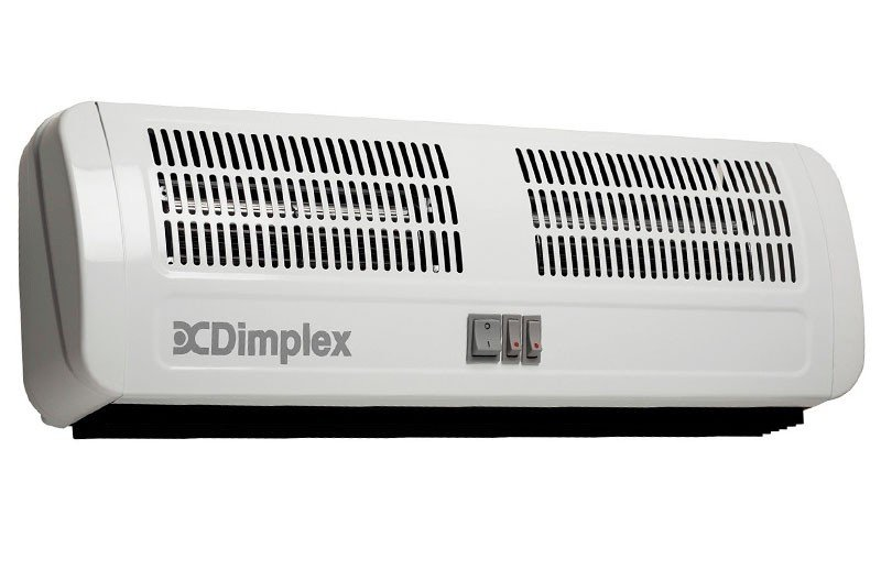 dimplex air curtain over door electric wall or ceiling heater 6kw 905mm wide ac6n