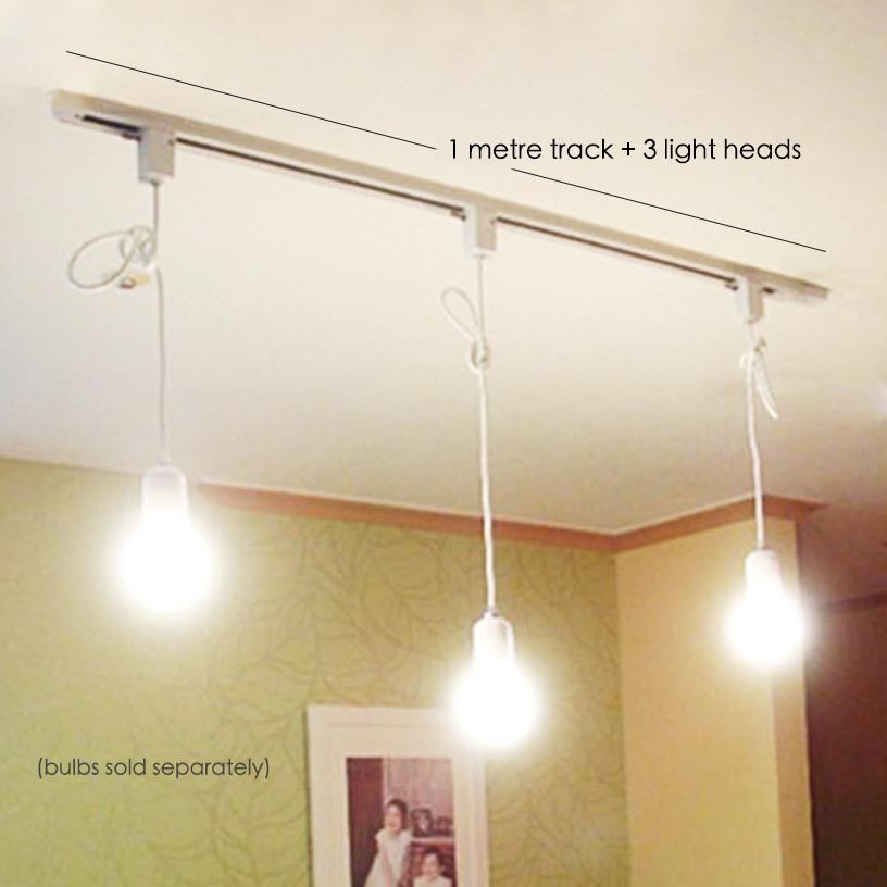 track hanging lights for kitchen island or shop display