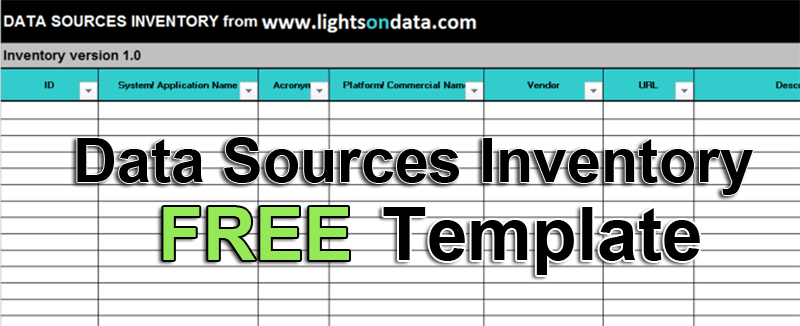 how to create an inventory of your data sources lightsondata