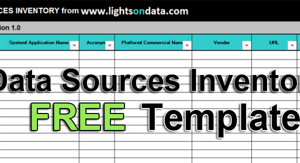 data sources inventory template