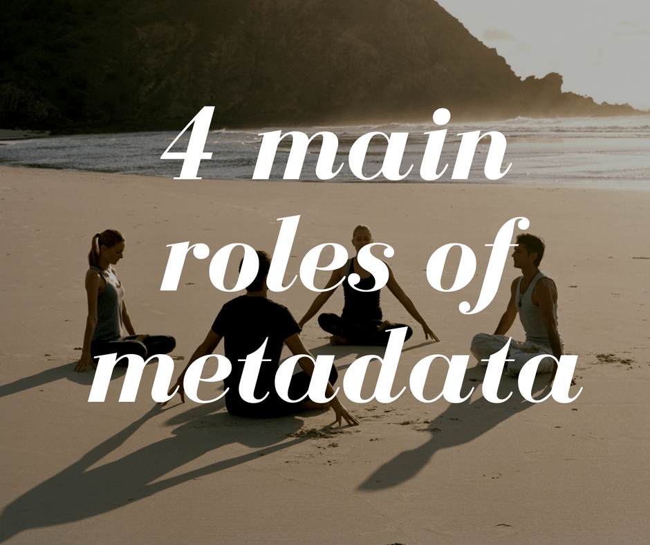4 main roles of metadata