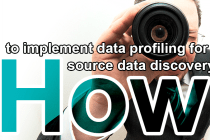 how to implement data profiling for source data discovery