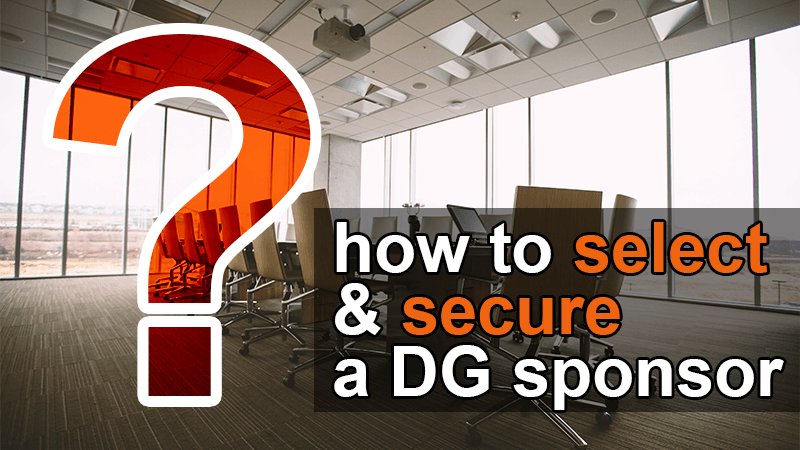 how to select and secure data governance sponsor