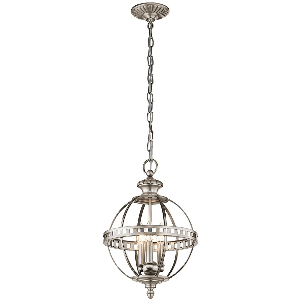 Kichler Halleron 3 Light Pendant In Classic Pewter