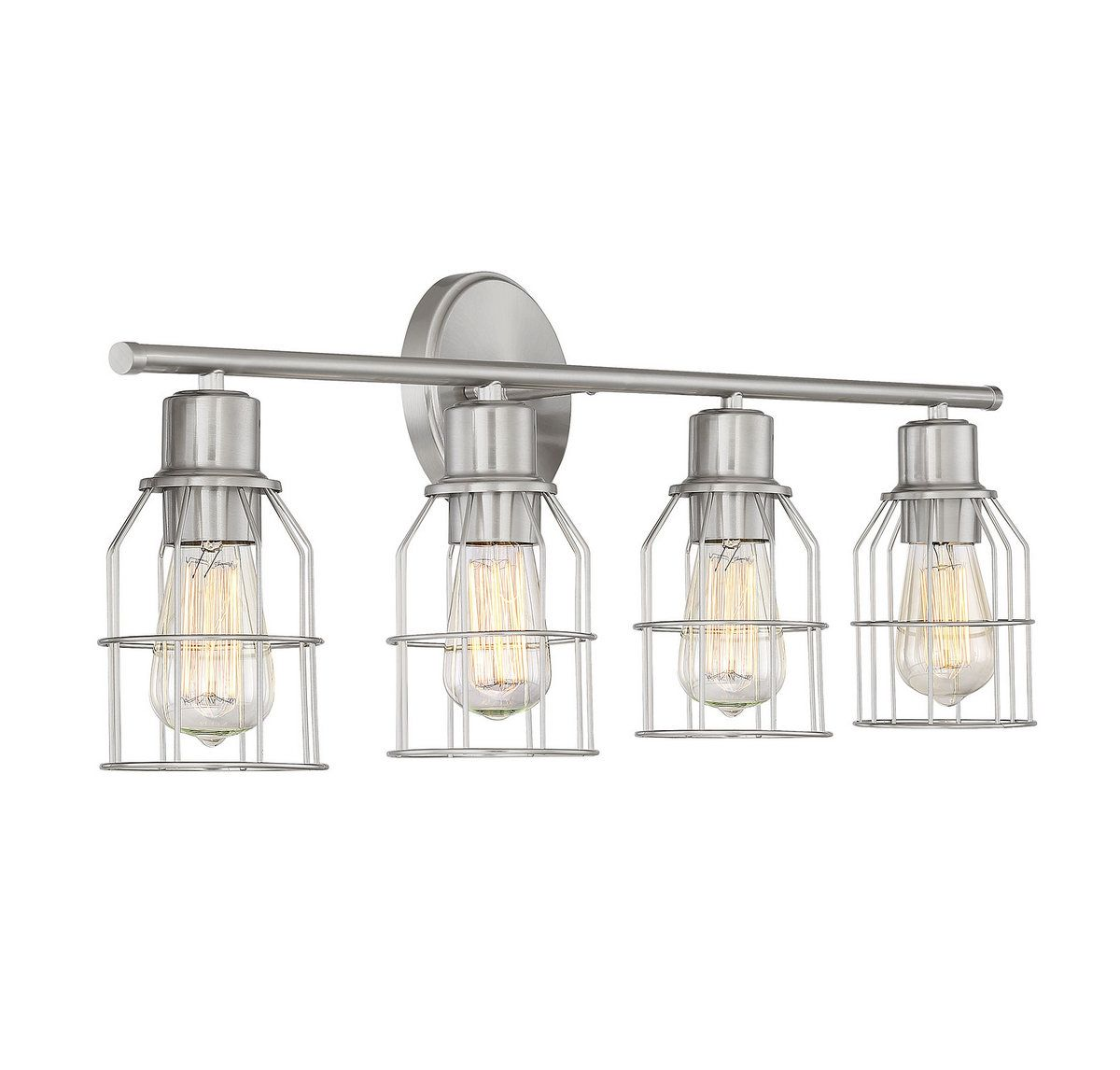 Trade Winds Lighting Industrial Wire 4-Light Bathroom