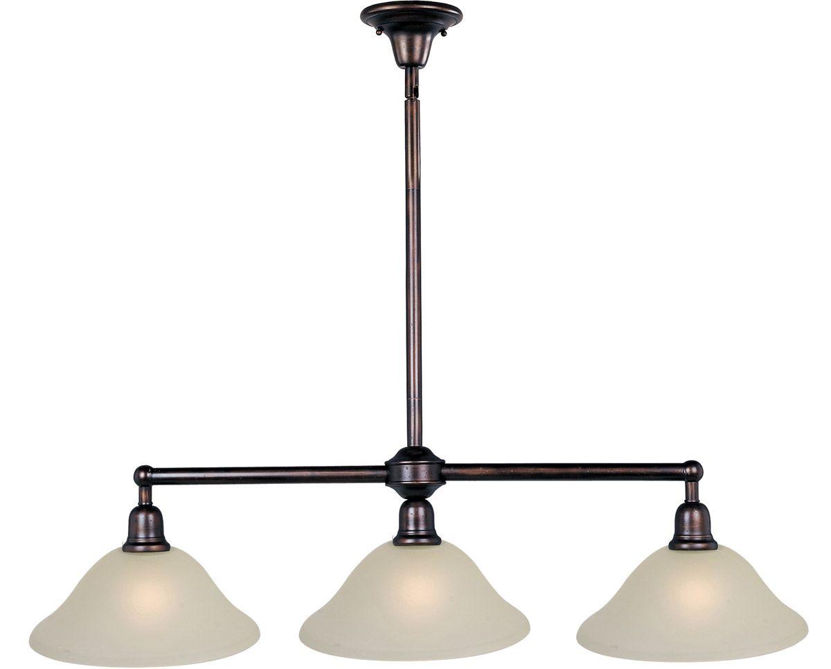 oil rubbed bronze kitchen island lighting moen faucet cartridge replacement instructions maxim bel air 3 light pendant in