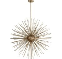 """Quorum Electra 35"""" 10-Light Pendant in Aged Silver Leaf ..."""