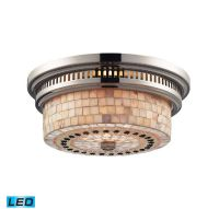 Elk Chadwick LED 2-Light Flush Mount in Polished Nickel ...