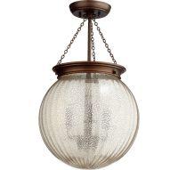 "Quorum Pend 13"" 3-Light Pendant in Oiled Bronze - Bell ..."