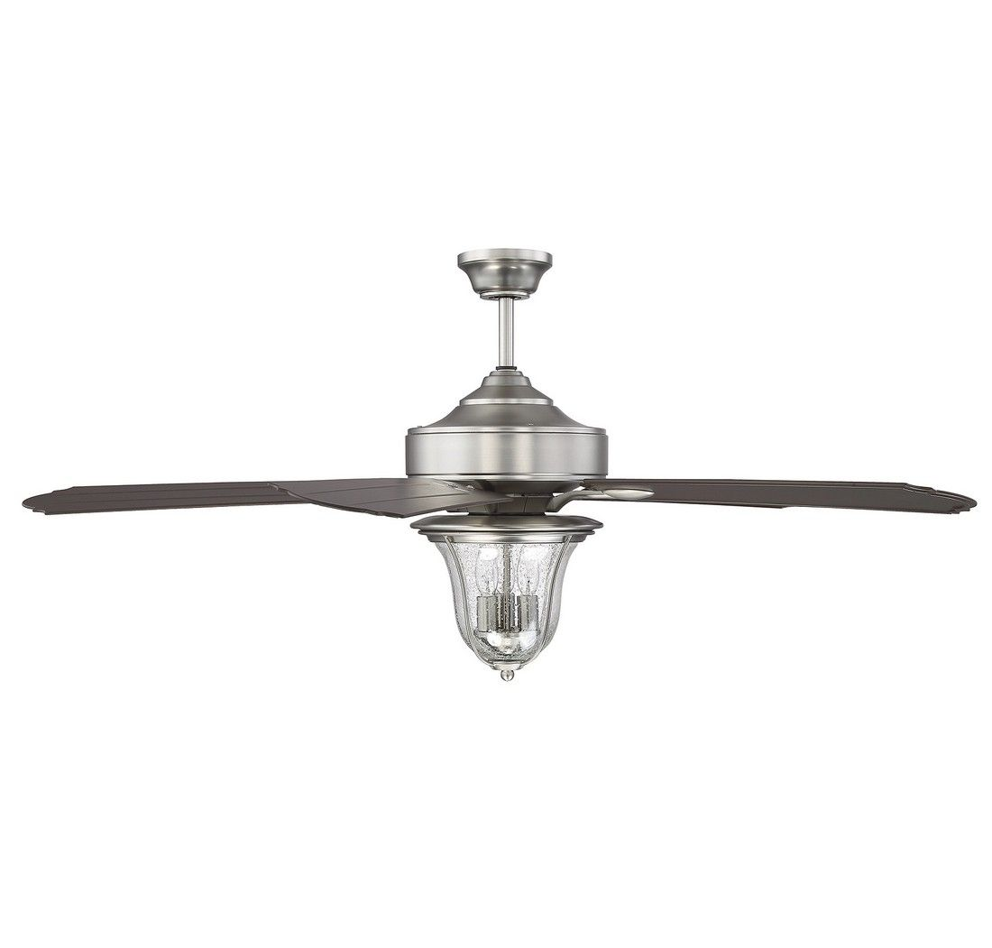Trudy 5 Light Chandelier In Satin Nickel With Clear Seeded