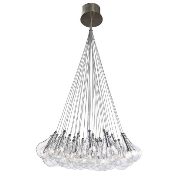 Cluster drop hanglamp 15 of 30 lampjes