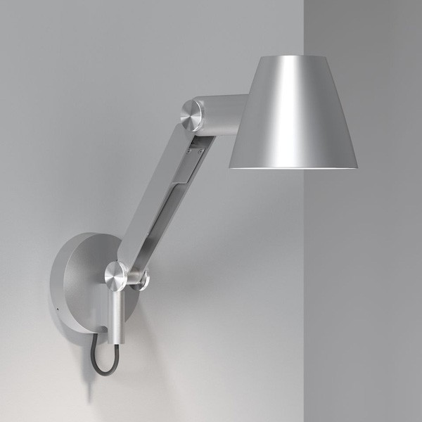 Nordlux Cult Adjustable Arm Wall Light Grey