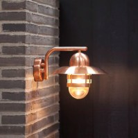 Nordlux Nibe E27 Outdoor Wall Light - Copper