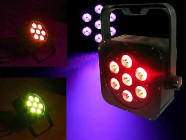 Light Emotion FLAT0307 7 x 3 watt RGB LED Wash Light