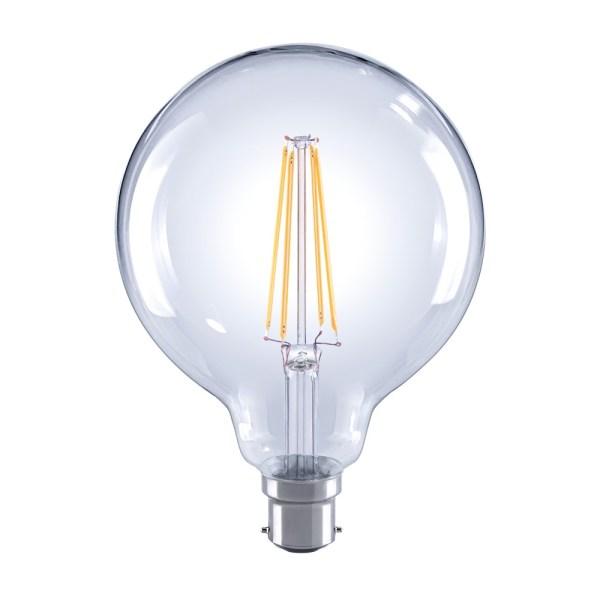 Crompton LED G125 Filament 240v 7w 2700K BC22 Lamp