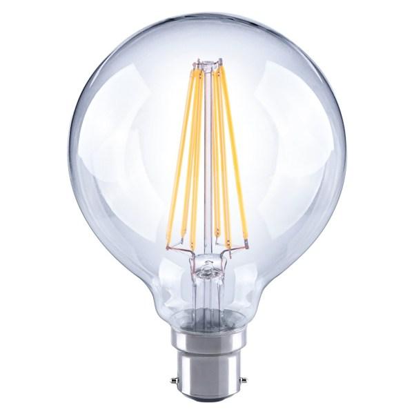 Crompton LED G95 Filament 240v 7w 2700K BC22 Lamp