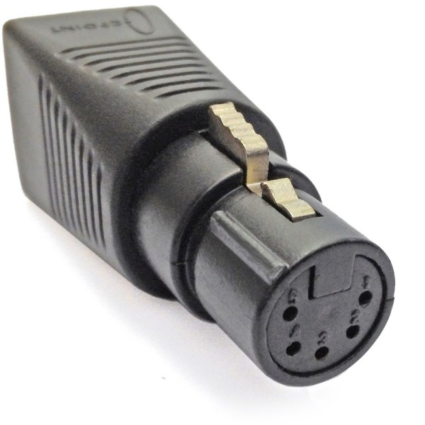 CPoint RJ45 (Cat5) to 5 Pin DMX Female adaptor