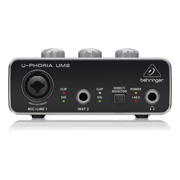 UM2 : Audiophile 2x2 USB Audio Interface with XENYX Mic Preamplifier