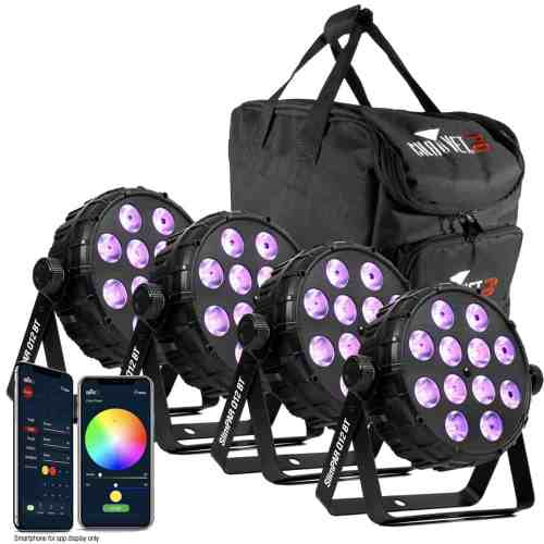 CHAUVET DJ SLIMPAR Q12 BT PACK LED PAR BUNDLE
